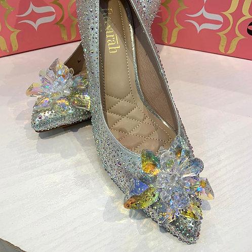 ReSarah台灣手工婚鞋 -銀色尖頭高跟鞋