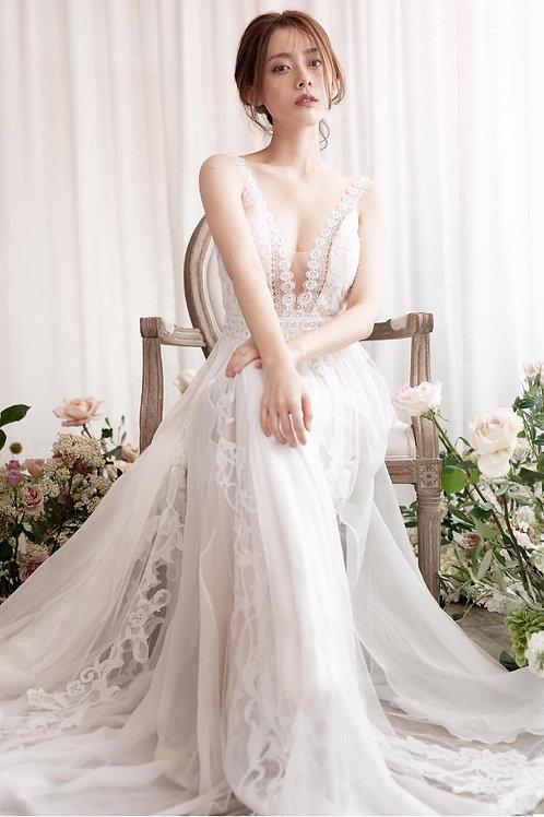 WGC224- 品牌Chic Nostalgia 真絲雪紡輕婚紗