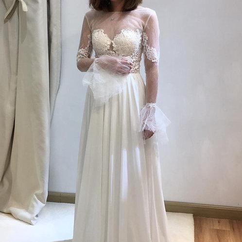 Adele - 長袖透視輕婚紗