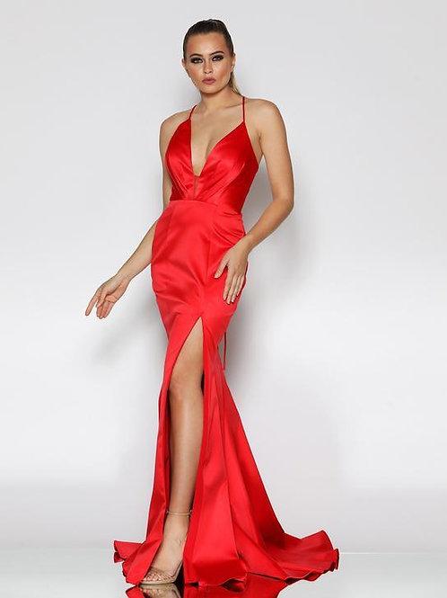 JX1101 - 澳洲品牌Jadore鮮紅色satin晚裝