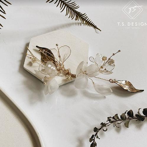 夏日的風景 - 白紗透明花長髮飾(需兩星期製作)