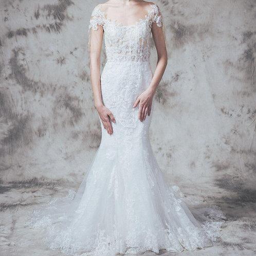 WGH010 - 中袖魚尾婚紗