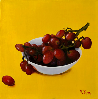 Small still life painting of grapes. Price: 330$