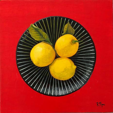 Small original oil painting of lemons. Price: 330$