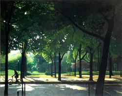 Avenue de Marigny un matin