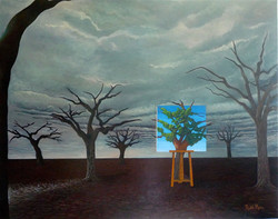 La Captive libérée, acrylic and oil on stretched canvas, 93x72cm, Price: 2900$