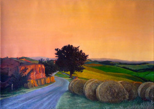 Road in Tuscany, Italian landscape painting