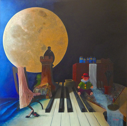 What was I thinking? A surrealistic oil painting