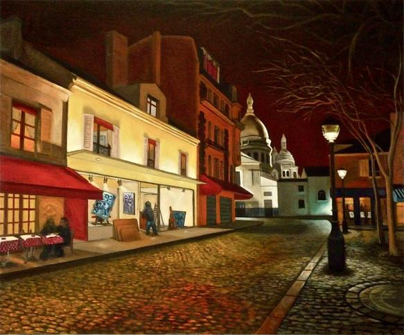 L'accrochage, a gallery in Montmartre