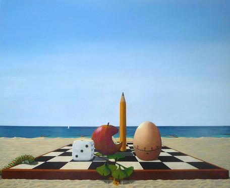 Contre vanité, a surrealistic painting