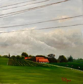 Landscape of France original painting Price: 200$
