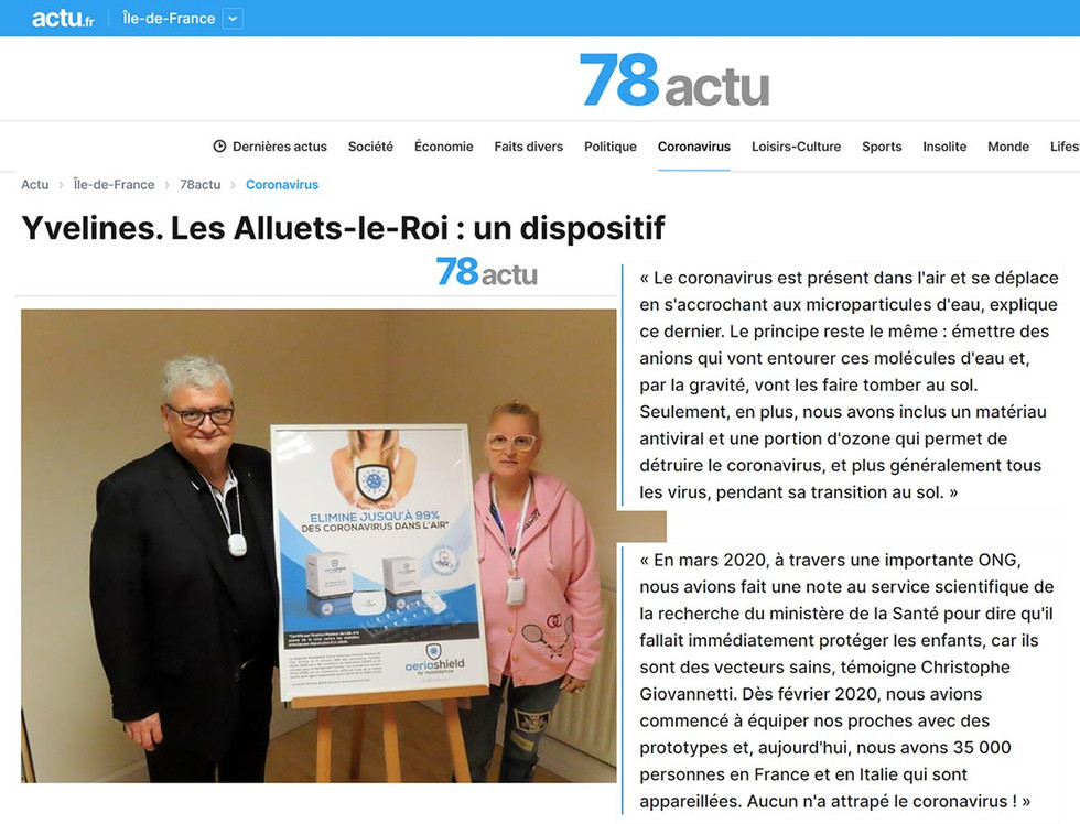 Article paru sur Actu.fr