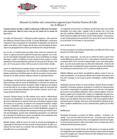 Article paru sur Libération