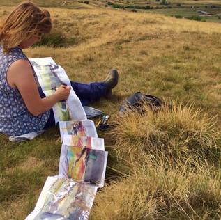 Sketching in Derbyshire