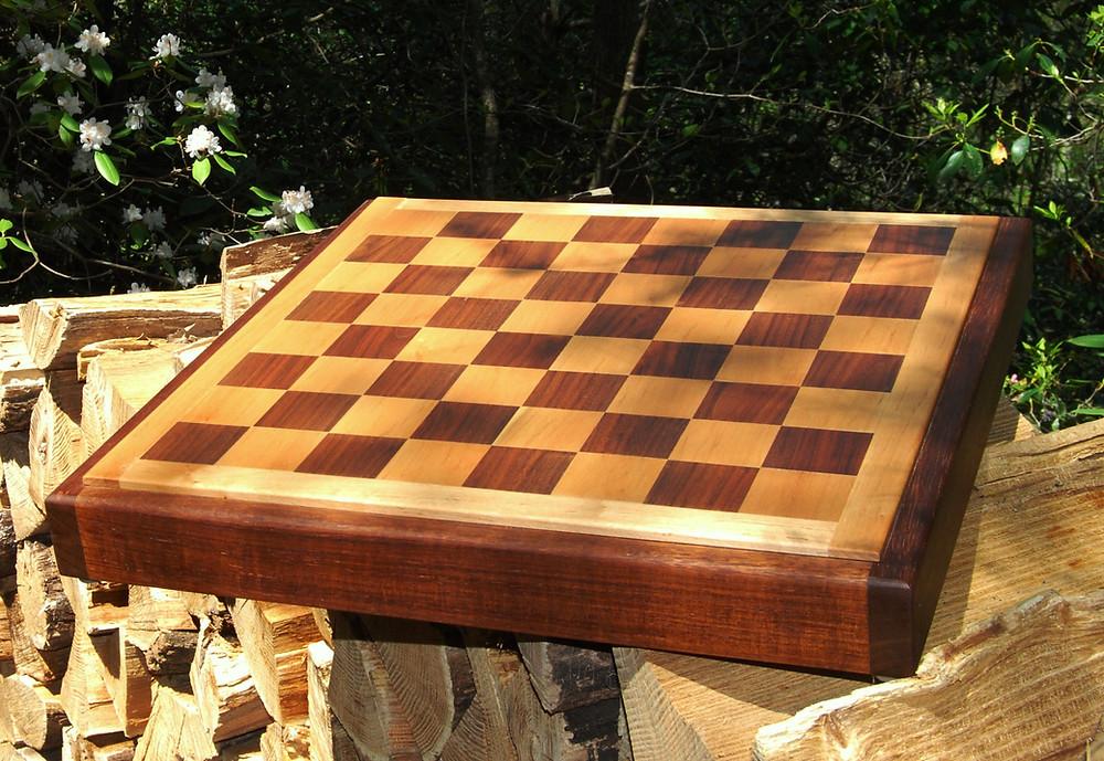 Chess Board in Walnut & Maple