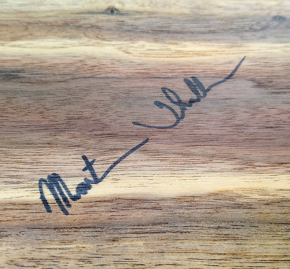 Martin's Signature on Walnut
