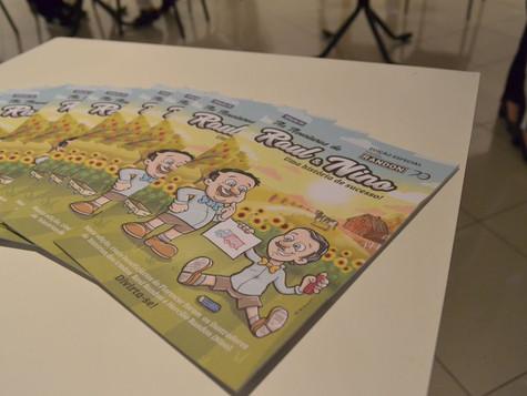 Programa Florescer lança gibi contando história dos irmãos Randon durante Feira do Livro
