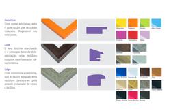 Com cores arrojadas, esta é uma opção que realça as imagens.