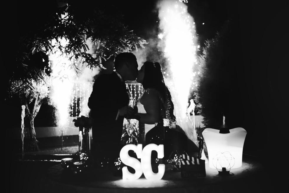 Corte do bolo em casamento