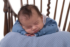 Bebé sorriso na sessão fotográfica