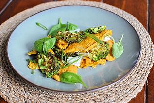 Veganes Omelette aus Tofu und Kichererbsenmehl