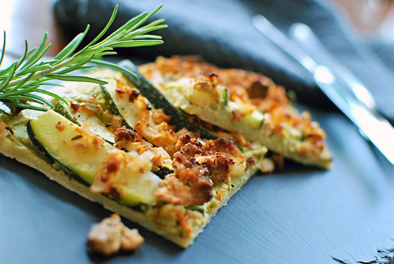 Zucchini-Flammkuchen