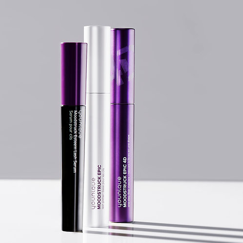 Trio mascara 4D + base gainante + Serum