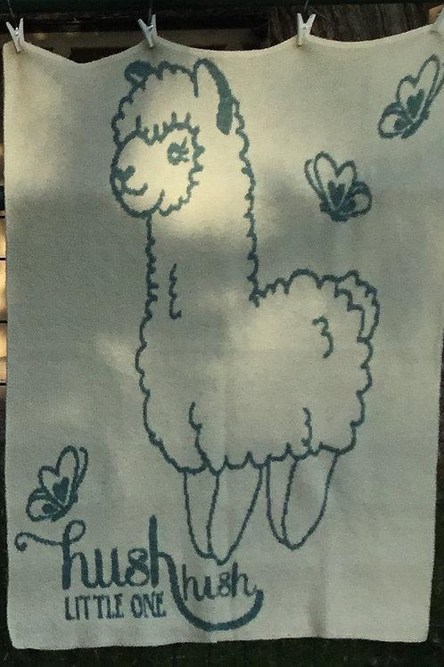 "Alpaca Blanket/Throw  - "" Hush, Hush Little One"""