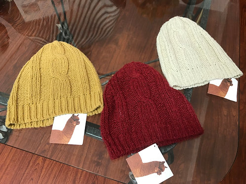 Kuna Brand Alpaca Hat - Gold, White & Burgundy