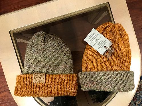 Reversible Gold/Multicolor Blend Hat