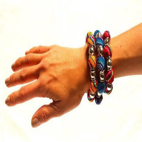 Alpaca Manta & Metal Balls Bracelet