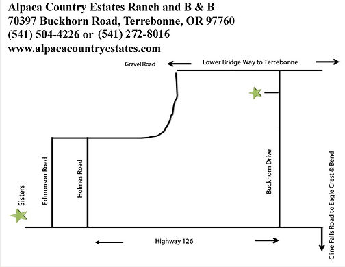 Map to Alpaca Country Estates with Addre