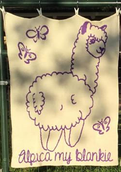 Knitted Alpaca Baby Blanket - Alpaca My Blankie