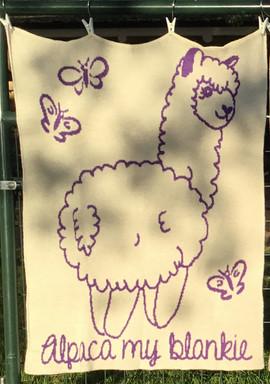 Knitted Alpaca Baby Blanket - Alpaca My