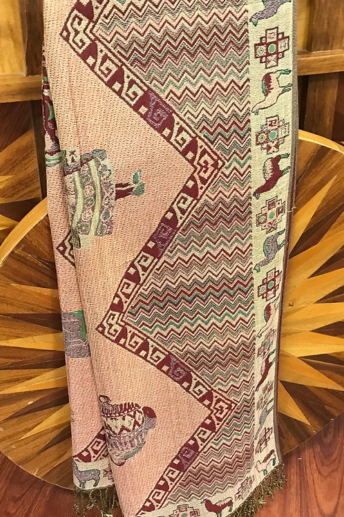 Two-Sided Pashmina with Fringe-Southwestern