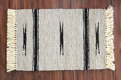 2' x 3' Alpaca Woven Rugs:  Indian Print Design