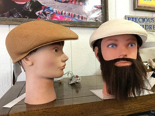Woven Flat Cap/Golf Hat