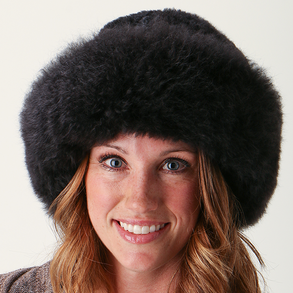Fur Alpaca Hat-Black