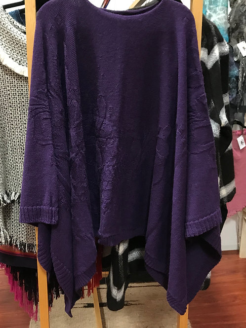 Tone on Tone Knitted Alpaca Poncho