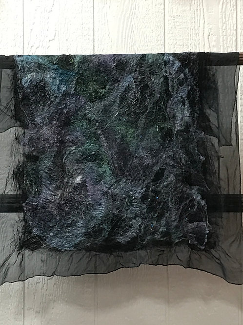 Nuno Felted Square Silk Scarves