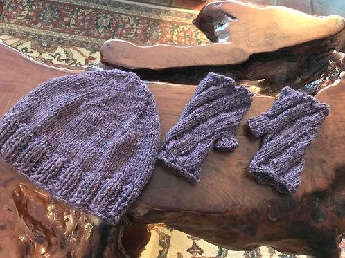 Plum Cap or Gloves (3 Styles) - Hand-Crocheted