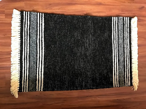3' x 5' Alpaca Woven Rugs:  Multicolored Stripes & Accents