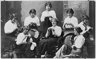 Group of Knitters
