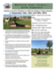 Alpaca Yoga Flyer Combined Classes - Sep