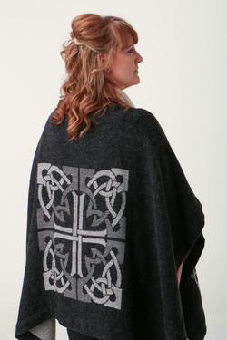 Charcoal Celtic Knot Cape 3