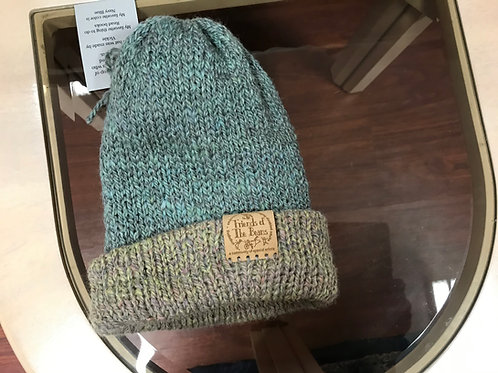 Teal Hat with Multicolor Blend Brim