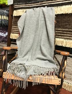 Blanket-Alpaca Peruvian Throw - Light Gr