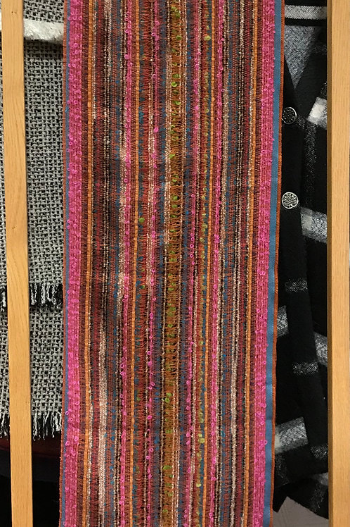 Peruvian Variegated Alpaca Scarves in Vibrant Colors