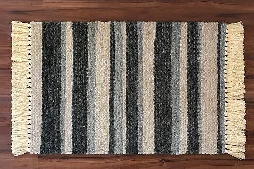 2' x 3' Alpaca Woven Rugs:  Multicolored Stripes & Accents