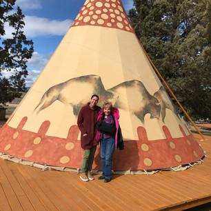 Roaming Buffalo Tipi with author, Ann Rivera & Nancy